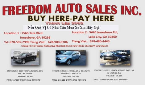 Freedom Auto sale
